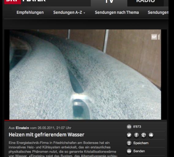 reportage video sfr1 einstein heizen mit gefrierendem wasser generalbau plamenig. Black Bedroom Furniture Sets. Home Design Ideas